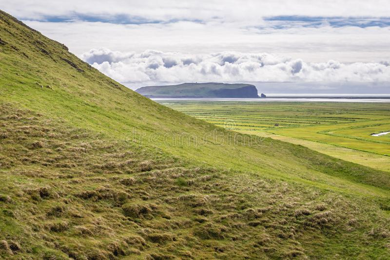 Dyrholaey promontory in Iceland stock photography