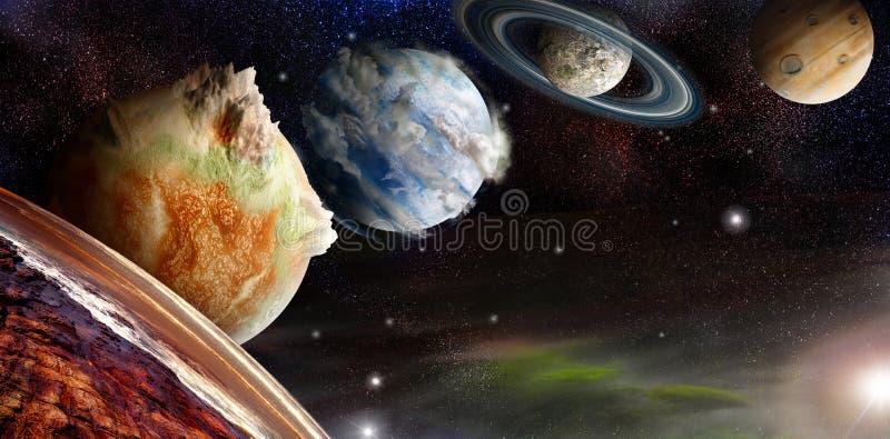 Distant exoplanet system royalty free illustration