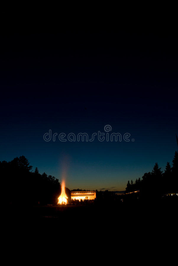 Download Distant fire at twilight stock photo. Image of inferno - 3398080