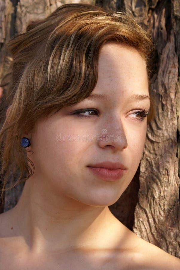 Download Distant Gaze stock image. Image of girl, fashionable - 23956371