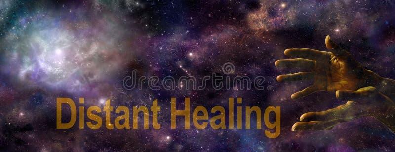 Distant Healing website banner stock photo