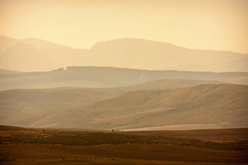 Distant hills stock image