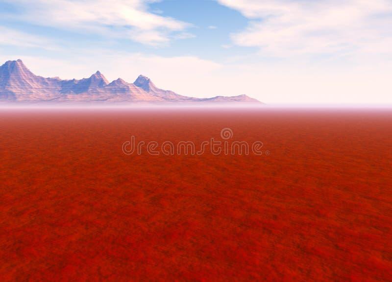 Distant Mountain on Horizon Landscape Desert. Scene Lots of Room For Text vector illustration