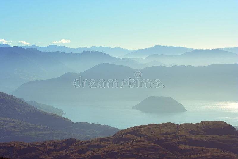 Download Distant Mountains And Lake stock image. Image of wanaka - 2791241