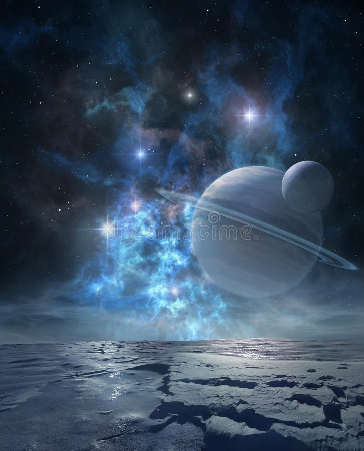 Distant planet stock illustration