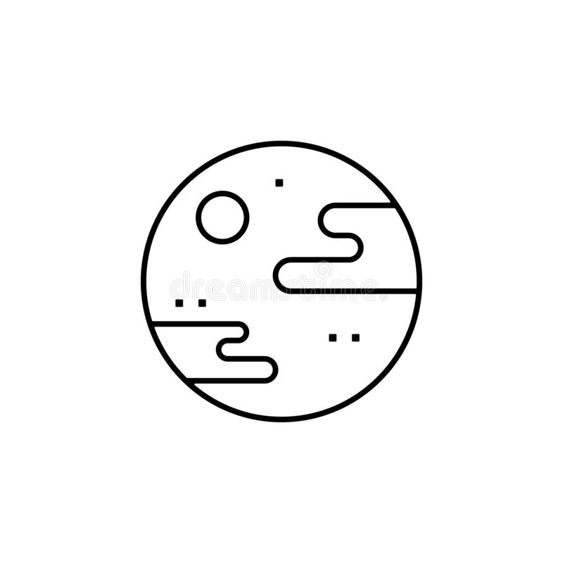 distant, planet, space, terrestrial icon. Element of future pack for mobile concept and web apps icon. Thin line icon for website vector illustration