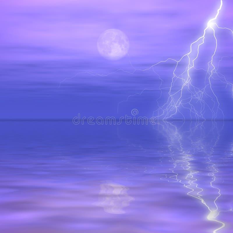 Distant Storm stock image