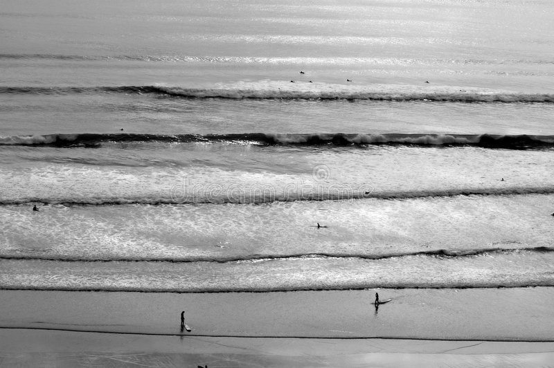 Distant Surf royalty free stock image
