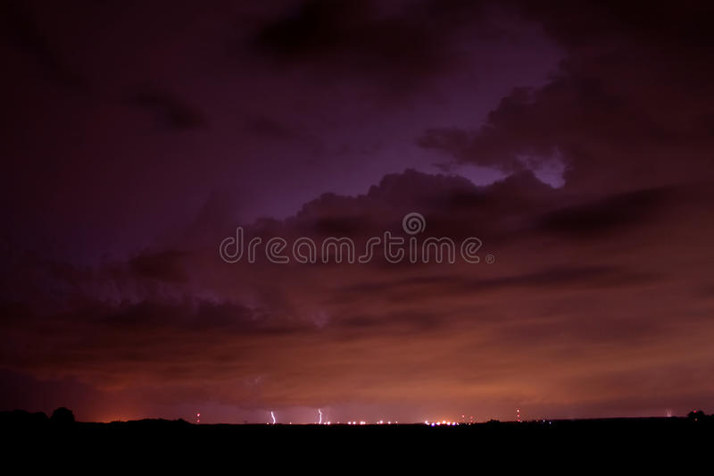Download Distant Thunderstorm In Illinois Stock Photo - Image of cloud, rockford: 23492400