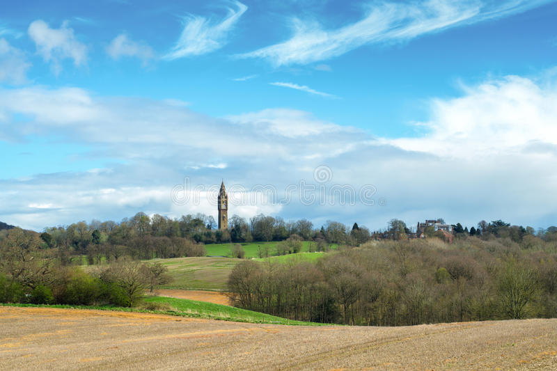 Distant Tower Landscape royalty free stock photography