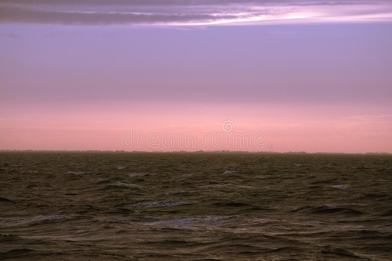 Distant view across the sea. stock image