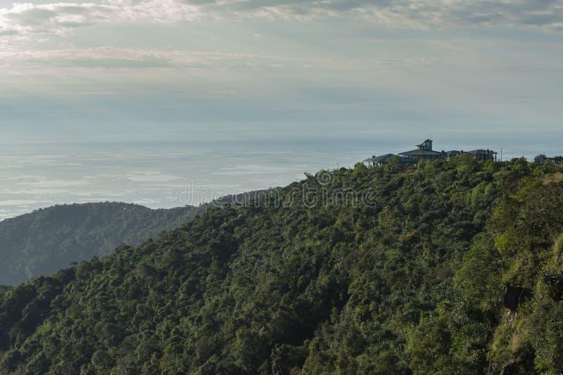 Distant view of bangladesh plains near Cherrapunjee,Meghalaya,India stock images