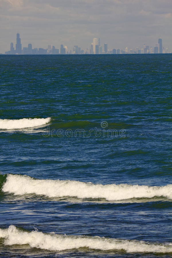 Download Distant View Of Downtown Chicago Stock Image - Image of building, michigan: 26548387