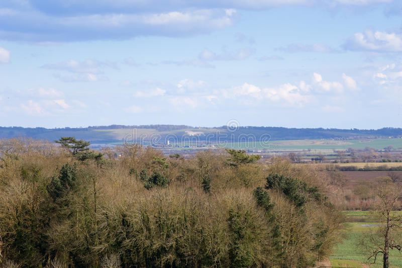 Distant View of the Whipsnade White Lion Bedfordshire England royalty free stock images
