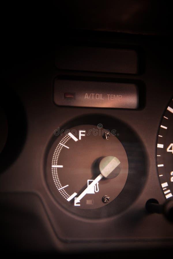 Distanza in miglia dell'automobile immagine stock