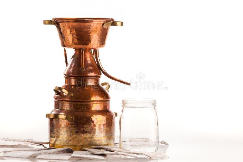 Distillateur d'huile photographie stock