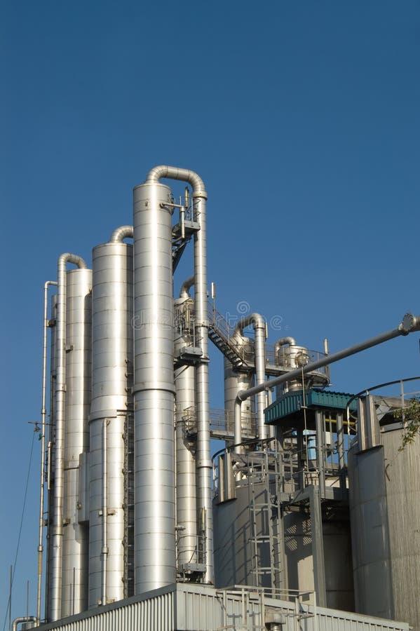 Distillation columns stock images