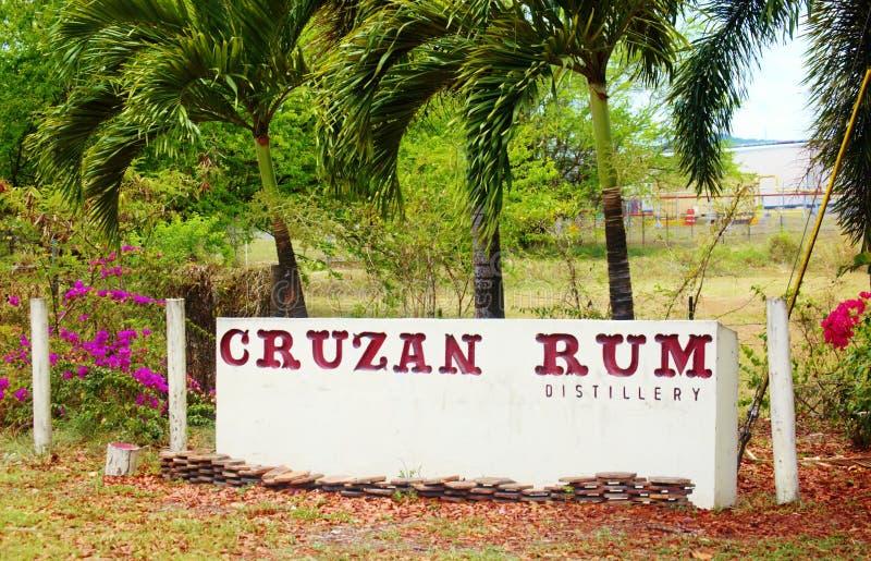 Distilleria cruzan del rum di usvi del croix della st immagini stock