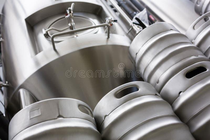 Distilleria della birra e del barile al bewery immagine stock