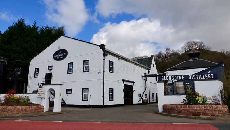Distilleria di Glengoyne fotografie stock libere da diritti