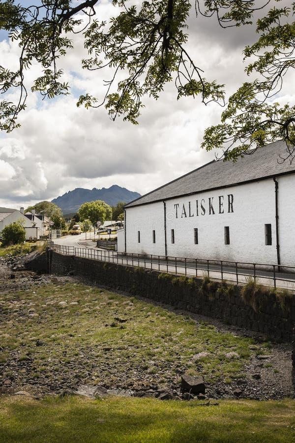 Distilleria di Talisker a Carbost su Skye immagine stock libera da diritti