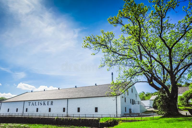Distillerie de Talisker photos stock