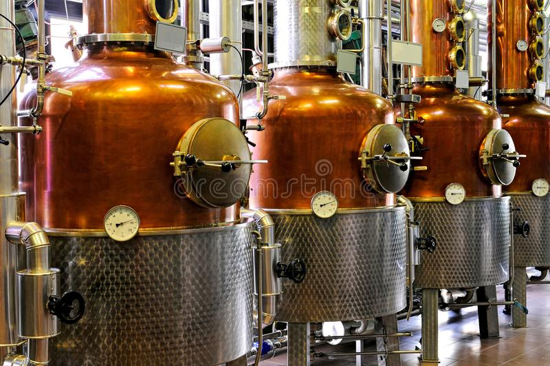 Distillery - copper stock photo