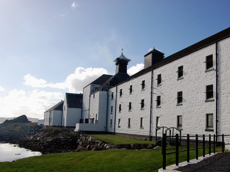 Distillery in Scotland royalty free stock photography
