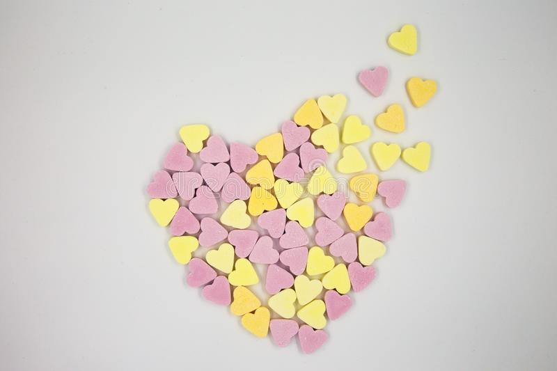 Distingerating Candy Heart stock photography