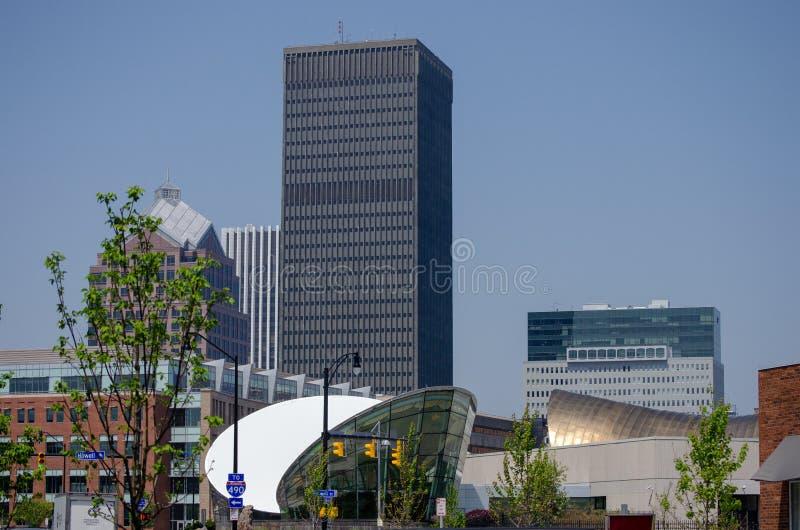 Distinta vista céntrica de Rochester Nueva York imagenes de archivo