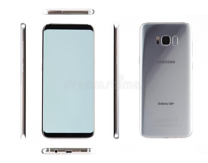 Distintas vistas de Samsung de plata s8 más fotos de archivo libres de regalías