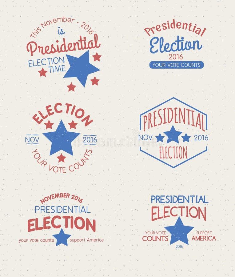Distintivi del grafico di elezioni presidenziali fotografia stock