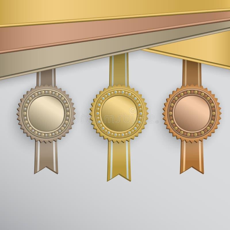Distintivi del premio illustrazione vettoriale