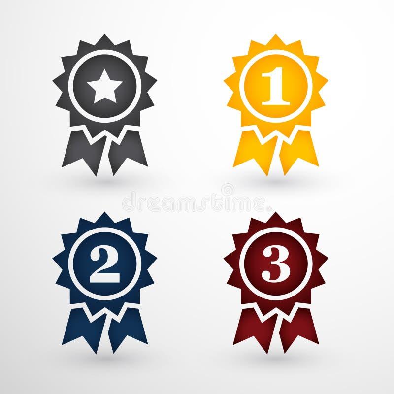 Distintivi del premio messi illustrazione di stock