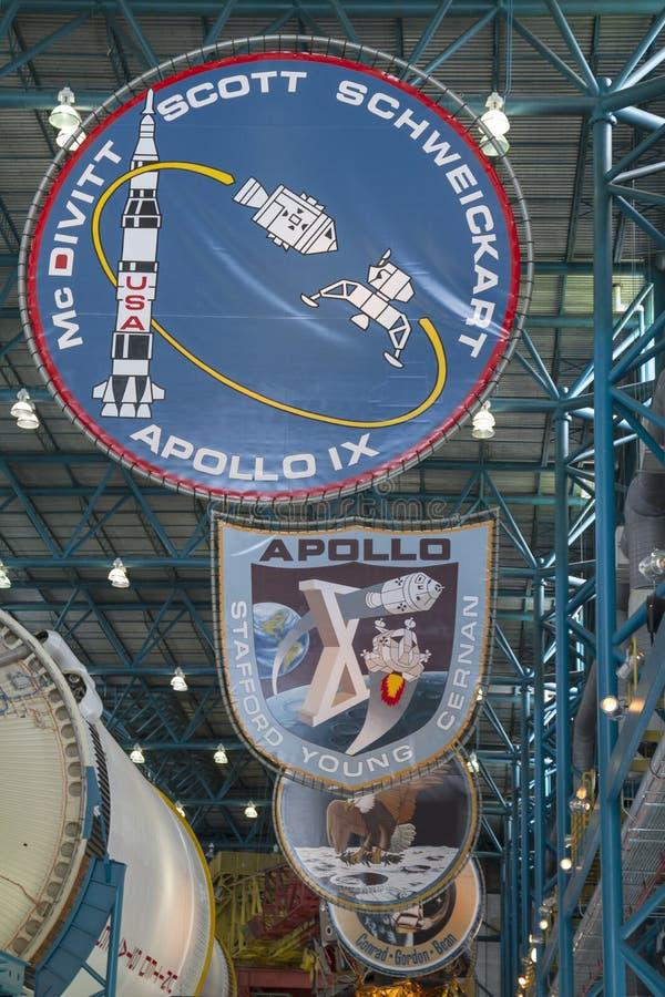 Distintivi di Apollo Mission fotografie stock libere da diritti