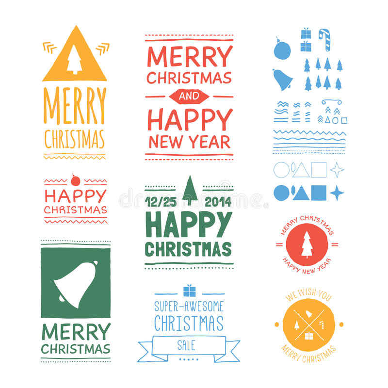 Distintivi di Natale di vettore royalty illustrazione gratis