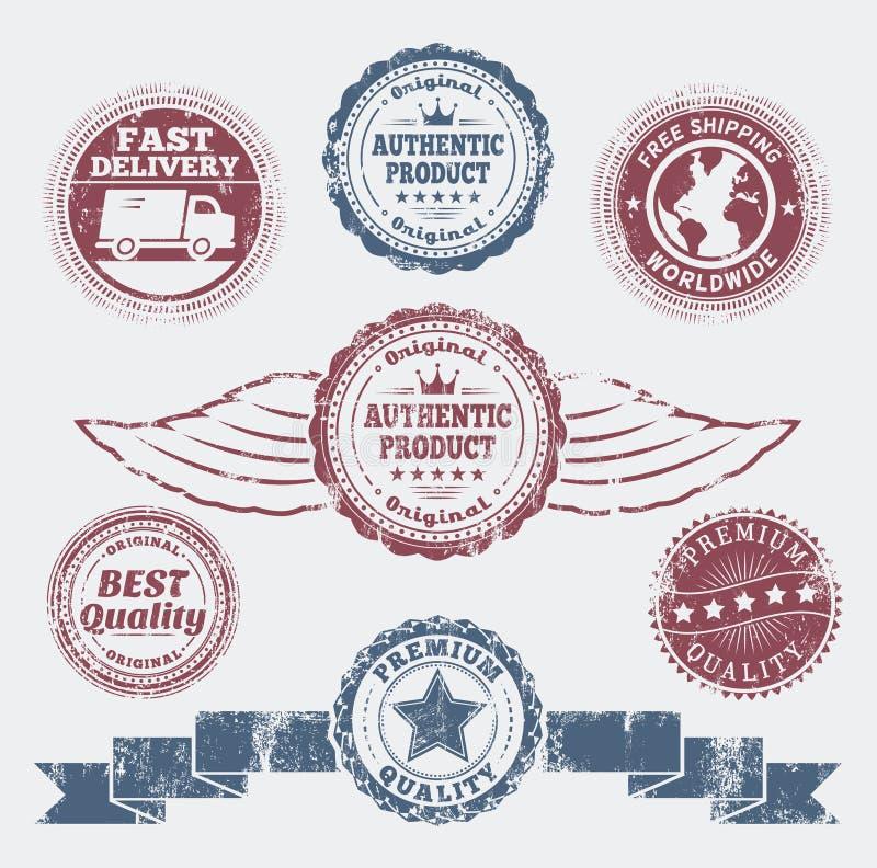 Distintivi di promo di lerciume illustrazione di stock