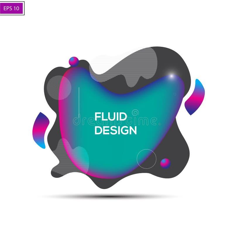 Distintivi fluidi di colore L'estratto modella la composizione Vettore Eps10 royalty illustrazione gratis
