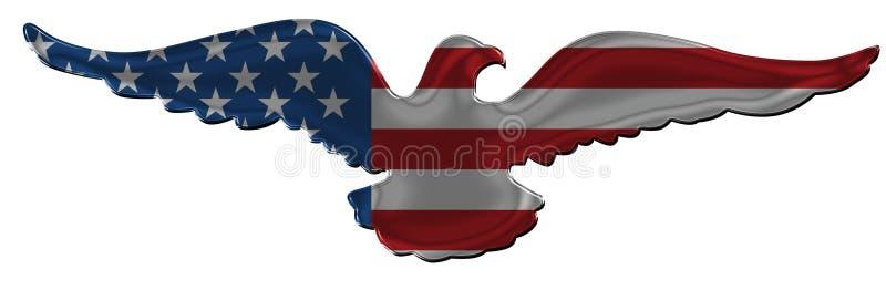 Distintivo americano 2 dell'aquila illustrazione vettoriale