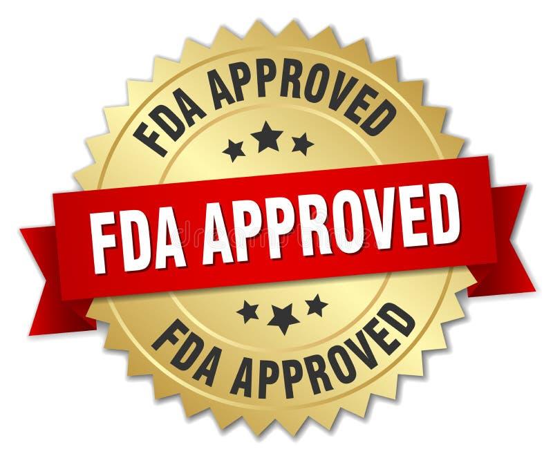 Distintivo approvato dalla FDA illustrazione di stock