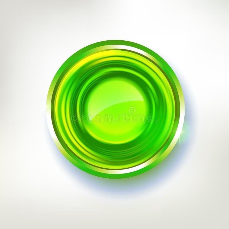 Distintivo astratto del cerchio di colori verde intenso royalty illustrazione gratis