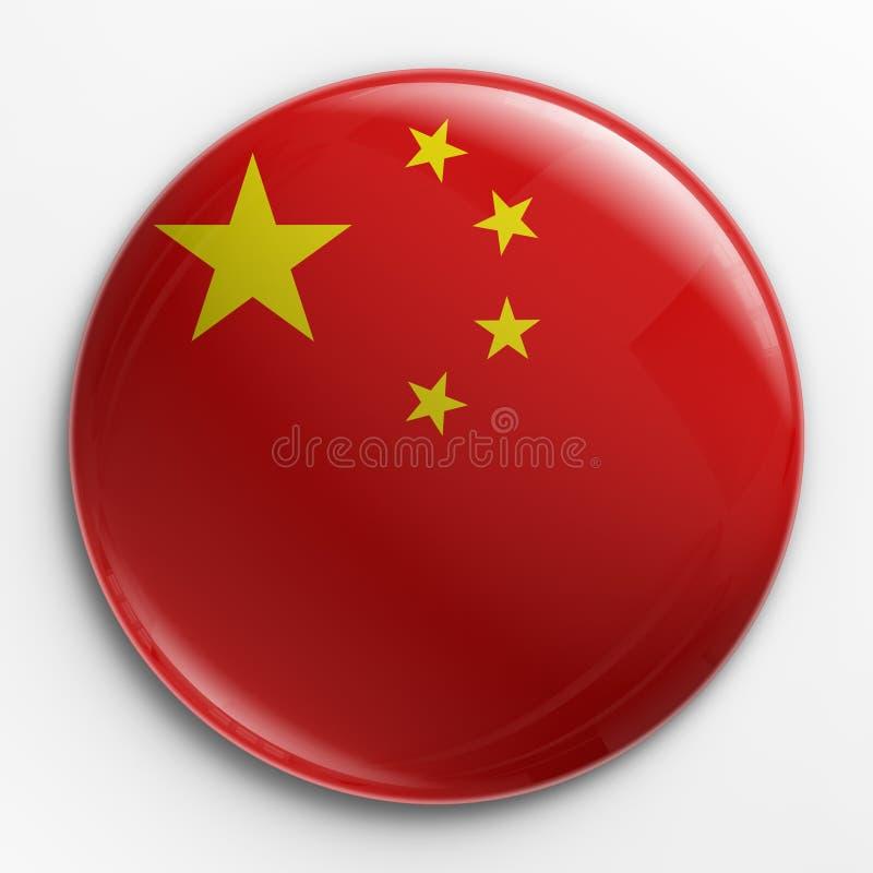 Distintivo - bandierina cinese illustrazione vettoriale