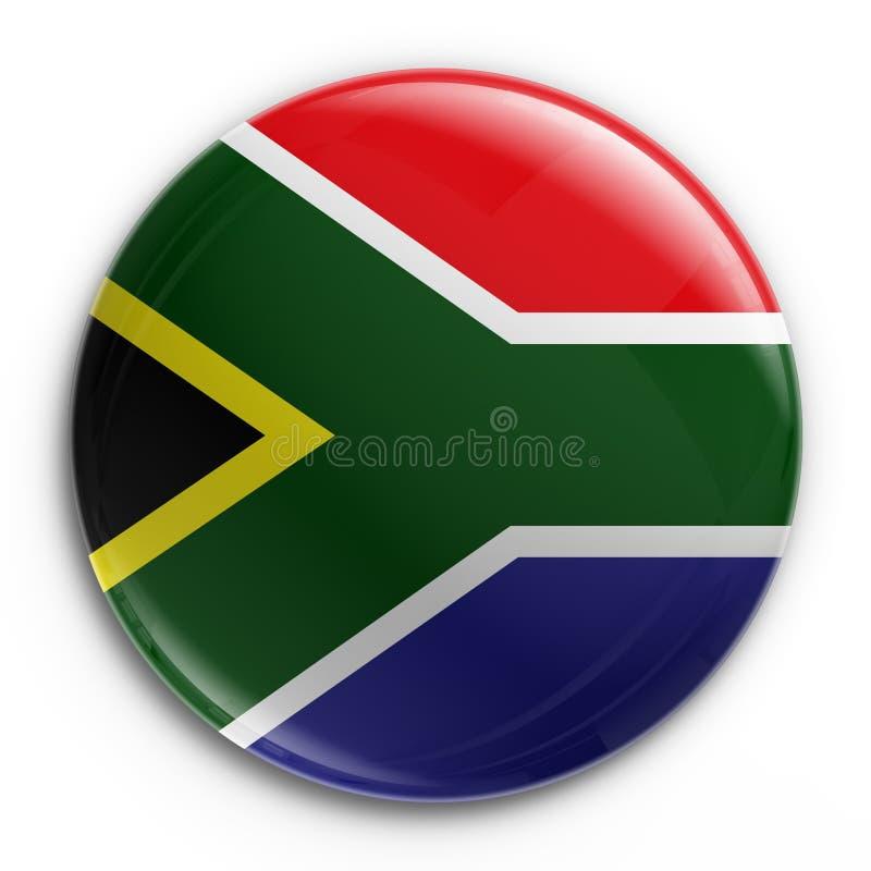 Distintivo - bandierina sudafricana illustrazione vettoriale