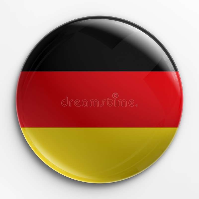 Distintivo - bandierina tedesca illustrazione vettoriale
