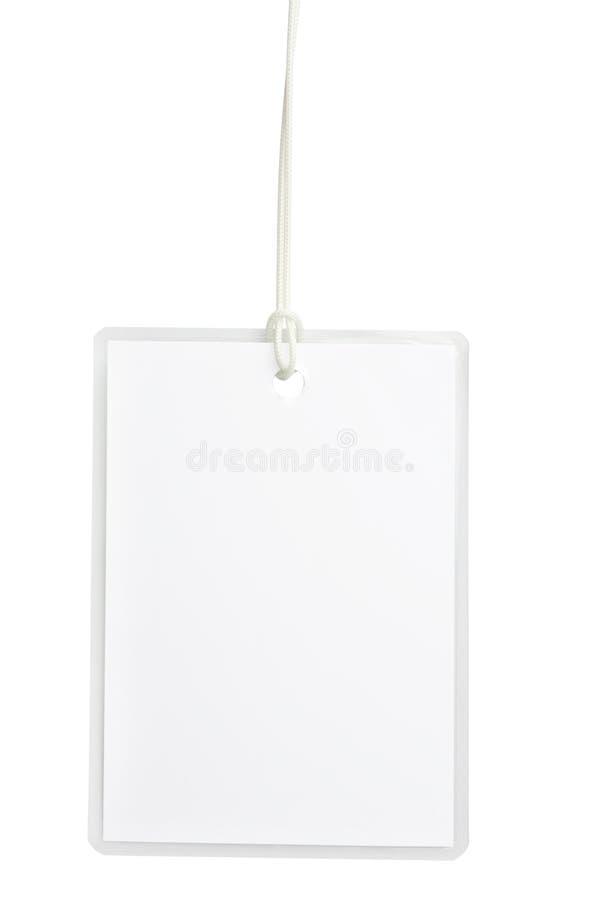 Distintivo in bianco fotografie stock libere da diritti