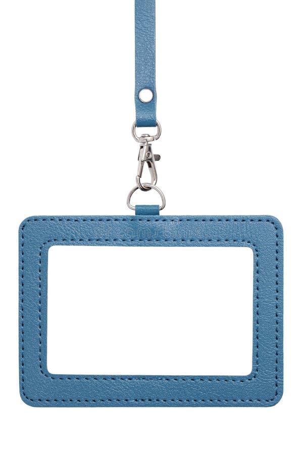 Distintivo in bianco dell'identificazione fotografie stock