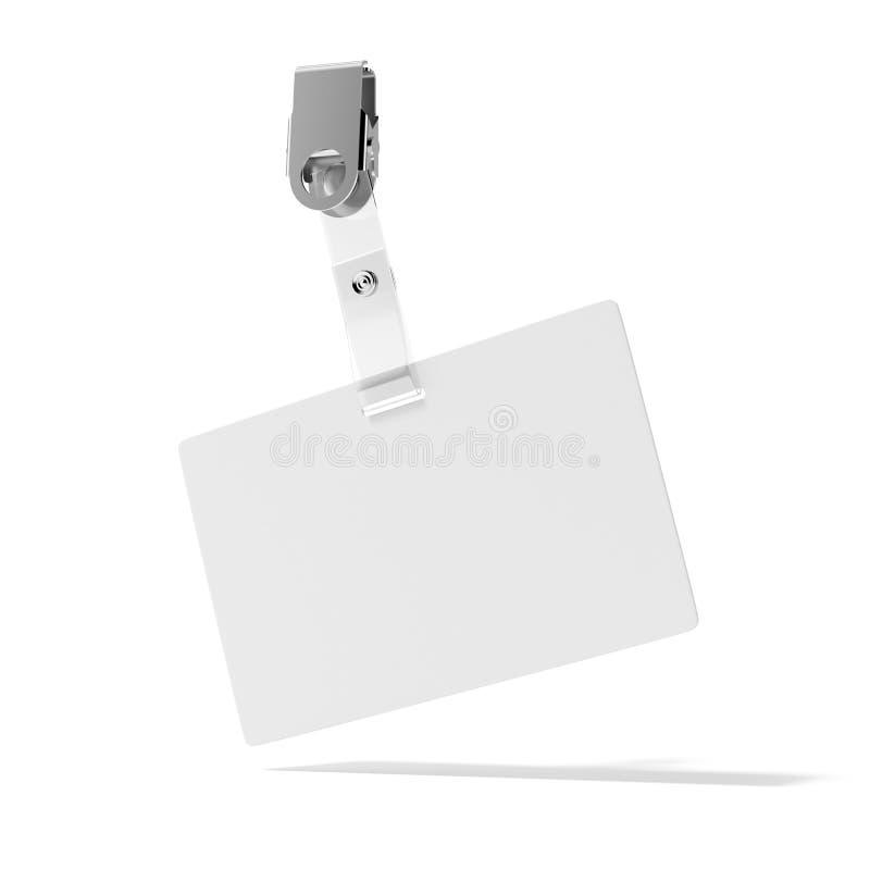 Distintivo in bianco di identificazione illustrazione vettoriale