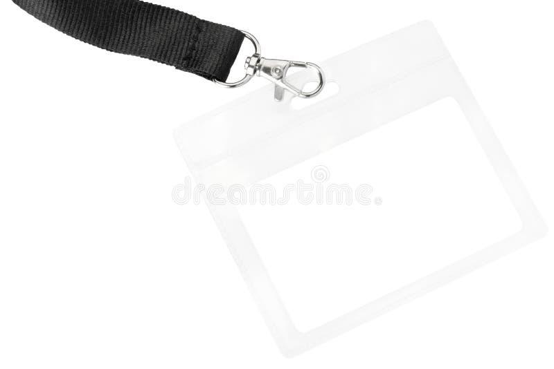 Distintivo in bianco o passaggio di identificazione fotografia stock