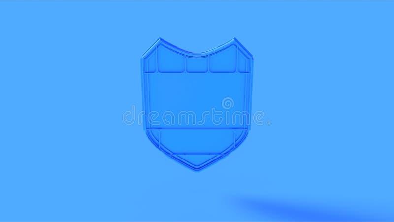 Distintivo blu dello schermo immagine stock