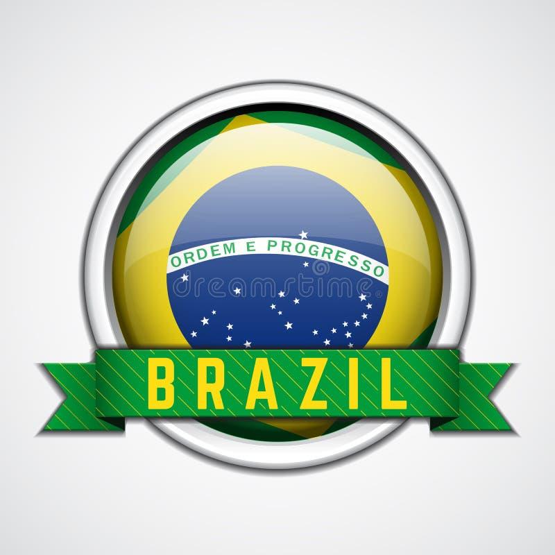 Distintivo del Brasile illustrazione di stock